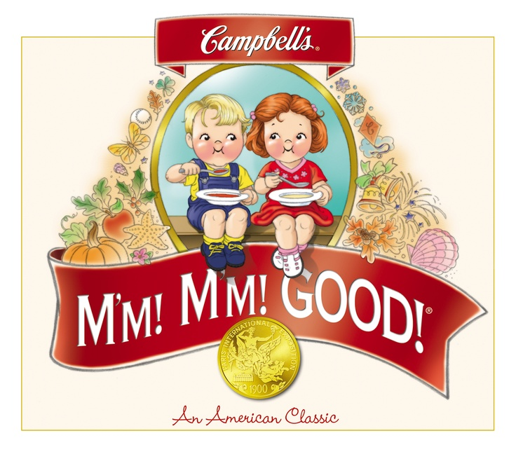 Image result for campbell soup face mmm mmm good